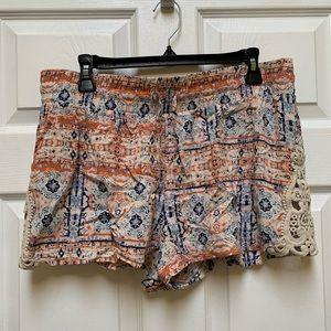 Xhilaration Elastic Waist Shorts with Lace